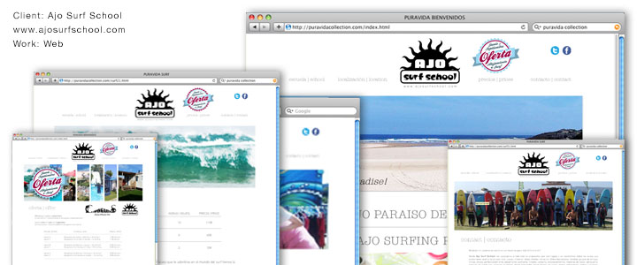 Ajos Surf School Web